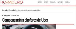 Compensarán a choferes de Uber